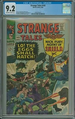STRANGE TALES #145 CGC 9.2 OWW pages - NICK FURY