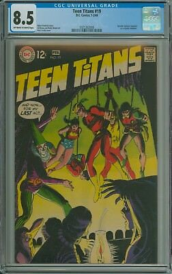 TEEN TITANS #19 CGC 8.5 OWW pages - SPEEDY REPLACES AQUALAD - GIL KANE