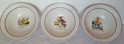 Set of 3 Vintage Childrens Cereal/Food Bowls Featuring 3 Nursery Rhymes