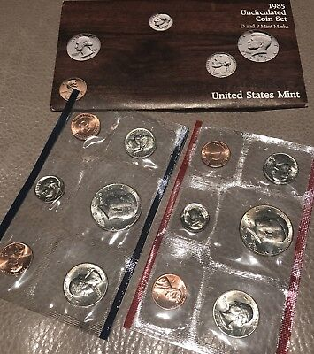 1985 P and D US Mint Uncirculated Coin Set w/ P and D Mint Marks