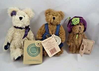 Boyds Bear ~ Lot of 3 ~ Andrei Berriman, Zack and Prissy