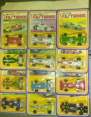 Lot Of 12 Car Set Vintage Fast Wheel 1/64 Die Cast Indy Race Car  Stp Exon Shell