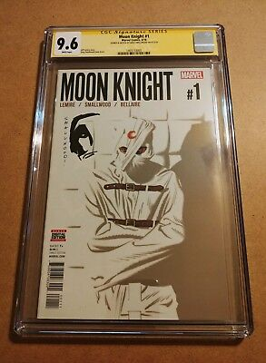Moon Knight #1 CGC Signature Series SS 9.6 Greg Smallwood Signature & Sketch