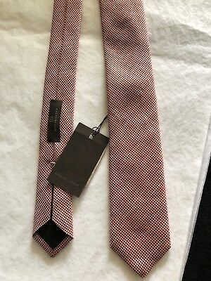 HUGO BOSS New with Tags Red, Black, White Black, Blue & White Tweed Tie