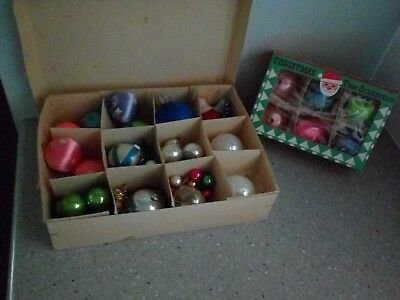 Old Vintage Retro Christmas Decorations Ornaments Baubles Boxed Poland