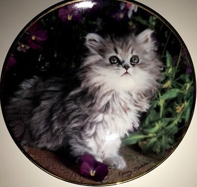 Purrfection by Nancy Matthews Kitten Cat Limited Edition Franklin Mint Plate