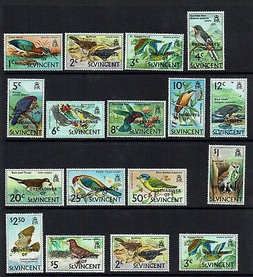 GRENADINES OF St VINCENT....1974 BIRDS....MINT NO HINGE