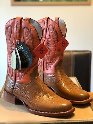 "Exclusive Westernstiefel original ""Stetson"" Alligator Print Gr.42 NEU NP 430 €"