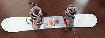 Snowboard with bindings and Snowboard boots