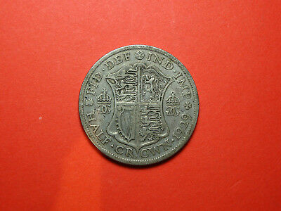 Great Britain 1/2 Crown 1929 GEORGE V Silver Coin No Reserve