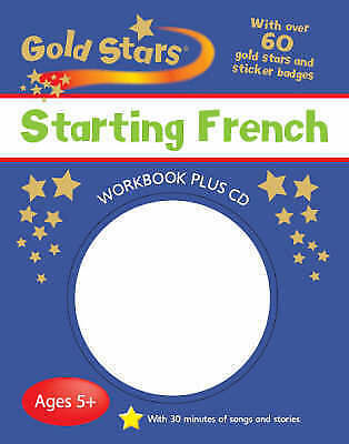 NEW Gold Stars STARTING FRENCH workbook & CD age 5 +  with songs and stories