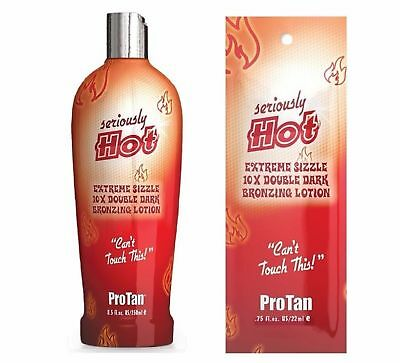 Pro Tan - Seriously Hot - Sunbed Tanning Lotion Cream - Sachet & Bottle