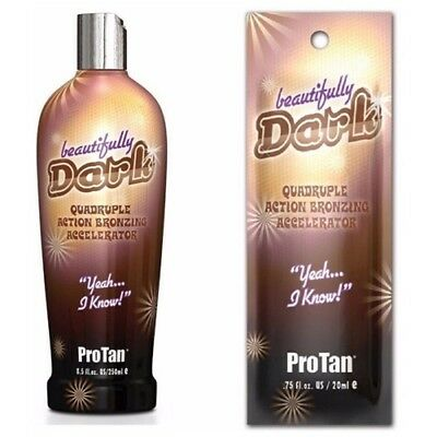 Pro Tan - Beautifully Dark - Sunbed Tanning Lotion Cream - Sachet & Bottle