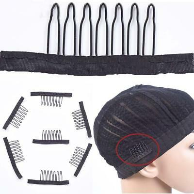 10Pcs/Set Black Wig Comb Clips For Wig Caps And Wig Making Hot Sale~