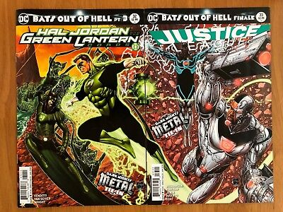 Hal Jordan and the Green Lantern Corps 32 + Justice League 33 Metal Tie-Ins NM