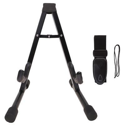 Guitar Floor Standing Bracket w/ Strap for Electric/Folk/Classical Guitar Parts