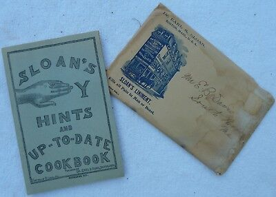 SLOAN'S HANDY HINTS AND UP-TO-DATE COOKBOOK from 1901 with Original Envelope
