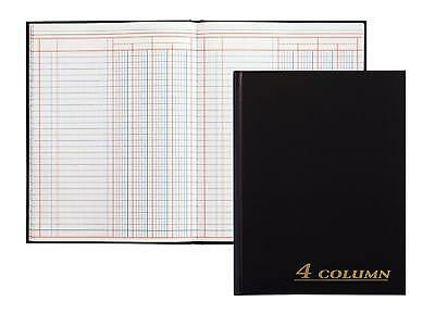 "Account Book 7"" x9.25"" Black 12 Columns 80 Pages Ledger Record Keeping Hardbound"