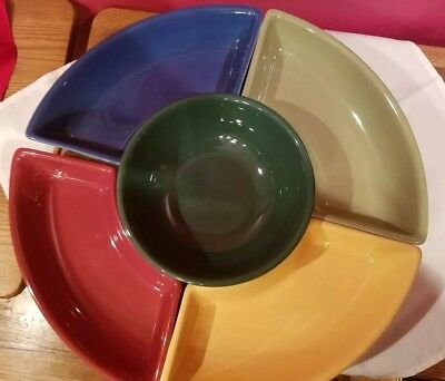 LONGABERGER NOT SO LAZY SUSAN COMPETE SET~ 6 Pc