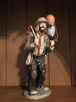 """Emmett Kelly Jr. """" Balloons for Sale """" Figurine By Flambro, made in Taiwan"""