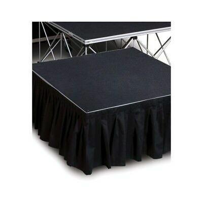 "Stage Skirting - Poly Premier - Shirred Pleat - 24"" Height Stage Skirt, 3 Colors"