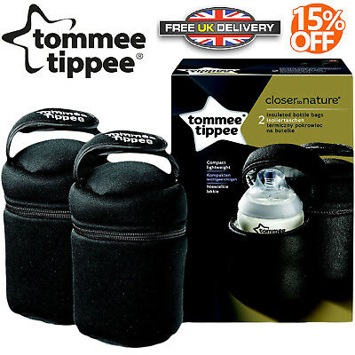 Tommee Tippee Closer to Nature Insulated Thermal Bottle Baby Feeding Bag Pack 2