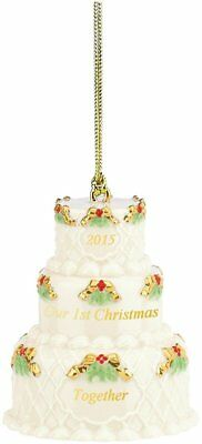 Lenox Our First Christmas Together Cake Ornament 2015