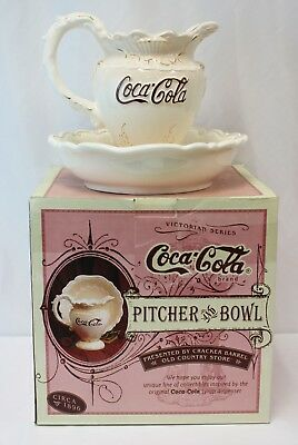Victorian Series Coca-Cola Company 1998 Pitcher & Bowl Set in Original Box