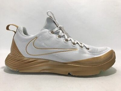 06179ce5a8 Nike Vapor Speed Turf LAX Football Trainer Shoes Gold White Size 9.5  833408-711