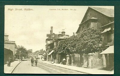 HIGH STREET,MALDON NO 354 BY GOWERS, vintage postcard