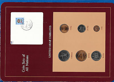 Coin Sets of All Nations UAE United Arab Emirates UNC 1973-1984