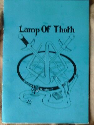 LAMP OF THOTH Issue 21  ultra rare UK Occult magazine
