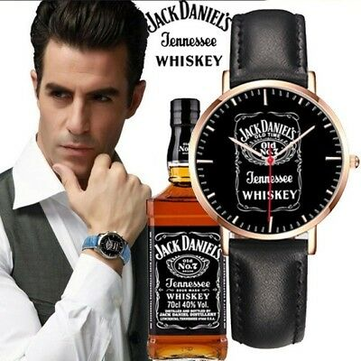 SALE!!! Hot New 2018 Jack daniels Whiskey Watch New Leather Design