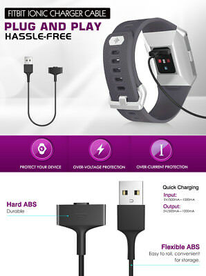 USB Charging Cable Lead for Fitbit IONIC Smart Fitness Watch - ionic Charger