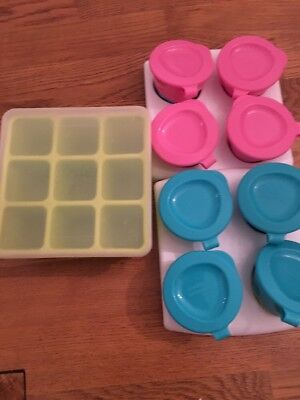 Nuby Weaning Freezer Tray And Tommee Tippee Weaning Food Storage Baby Pots