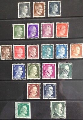 Germany Third Reich 1941 Hitler Issues Used