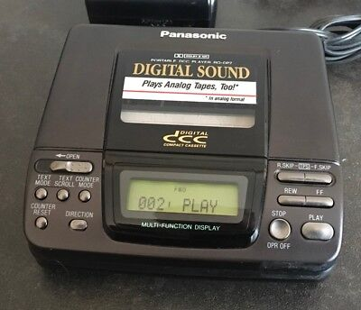 Panasonic RQ-DP7 portable DCC tape cassette player Digital compact cassette.