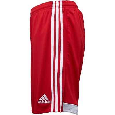 Adidas Junior Boys Sports Football Lined Shorts Red Age 9-10 11-12 13-14 rrp £22