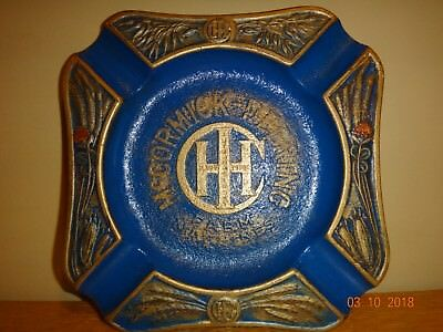 Vintage 1920's Mccormick Deering Ih Ashtray Excellent !