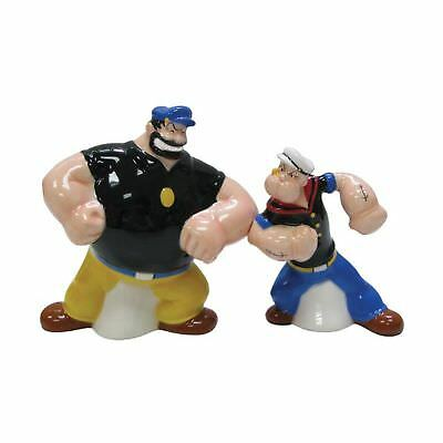 Westland Giftware Popeye Magnetic Popeye and Brutus Face-Off Salt and Pepper ...