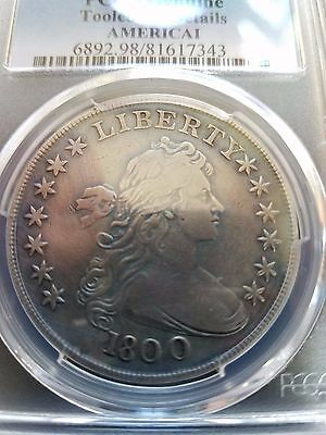 1800 Draped Bust Dollar, Americai, Pcgs Graded Fine Details,