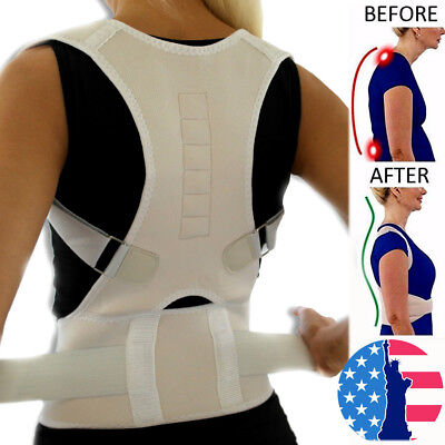 New Magnetic Posture Corrector Belt for Lumbar Lower Back Support Shoulder Brace