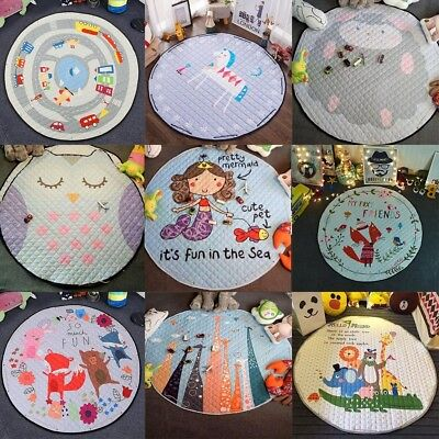 Large Foldable Kids Baby Game Toy Play Mat Soft Cotton Crawling Blanket Rug