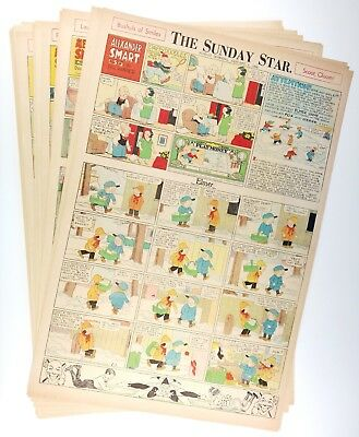 ELMER (1933) - 39 Sunday Comics by Doc Winner - w/ BRINGING UP FATHER on reverse