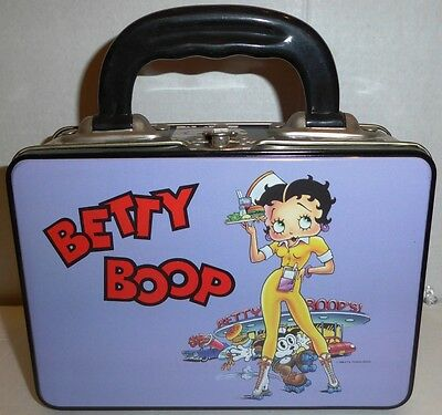NEW 1996 Betty Boop 7x5 Metal Tin Keepsake Lunch Box 96 NOS Collectible Lunchbox