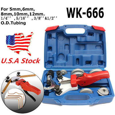 US 11Pcs WK-666 Multi Copper Pipe Kit Bender Tube bending with Tube Cutter Tool