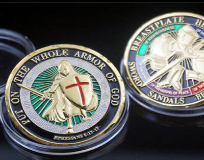 US Military Put on the Whole Armor of God Ephesians 6-13-17 Challenge Coin