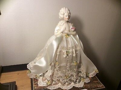 Superb Porcelain Half Doll Nude, Antoinette Pincushion Collectible Art Doll