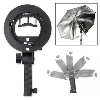 S-Type Bracket Bowens S Mount Holder for Godox Speedlite Flash  Snoot Softbox