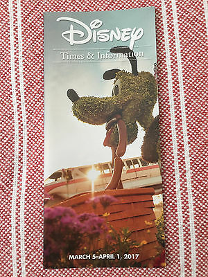 Walt Disney World Times and Information March 5 to April 1 2017 - New